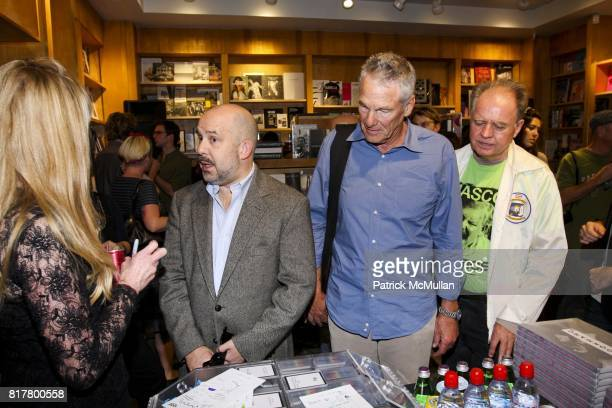 Bruce Hackney Tom Patchett and Tom Murrin attend THE BEAUTIFUL THE DAMNED Punk Photographs by Ann Summa Book Signing at BOOKMARC on October 8 2010 in...