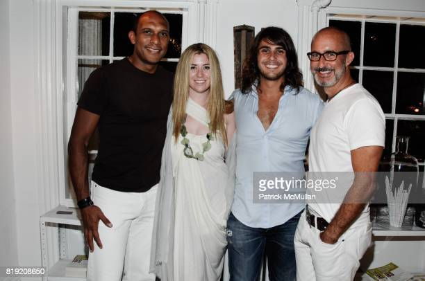 Bruce Holley Rachel Paletsky Otis Mallia and Tim O'Brien attend RICHARD ASH MD AND RACHEL PALETSKY HOST THE OPENING OF WELLNEST at Wellnest on July...