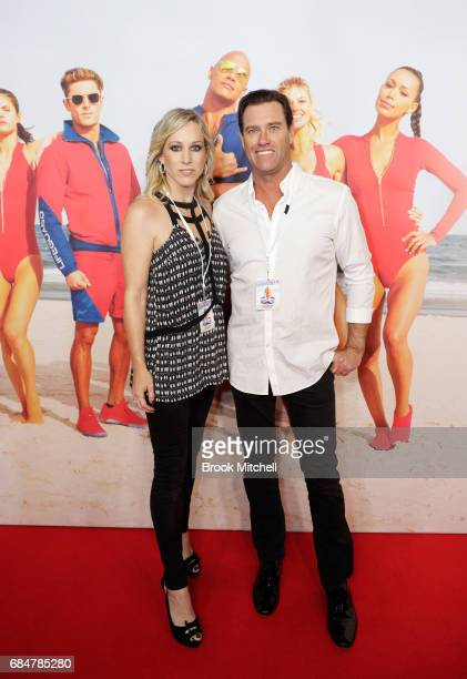 Bruce 'Hoppo' Hopkins and partner attend the Australian premiere of 'Baywatch' at Hoyts EQ on May 18 2017 in Sydney Australia