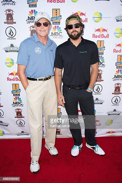 Bruce Jenner and Brody Jenner attend Ryan Sheckler's 7th Annual Celebrity Golf Tournament at Trump National Golf Club on September 29 2014 in Rancho...