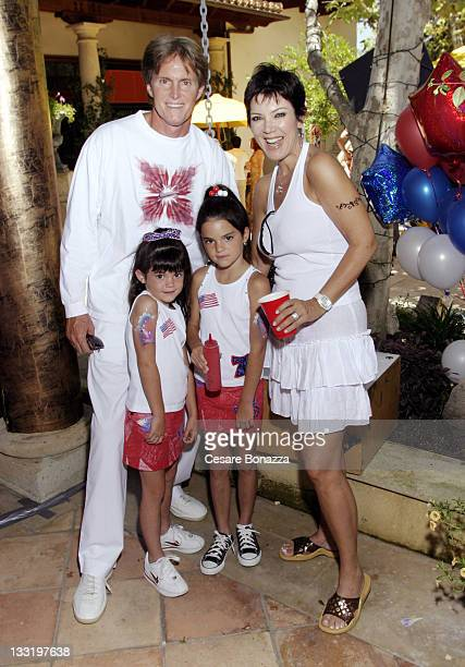 Bruce Jenner and wife Kris with daughters Kylie and Kendall