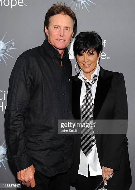 Bruce Jenner Kris Kardashian arrive for the City of Hope honoring Shelli And Irving Azoff with the 2011 Spirit of Life award at Universal Studios...