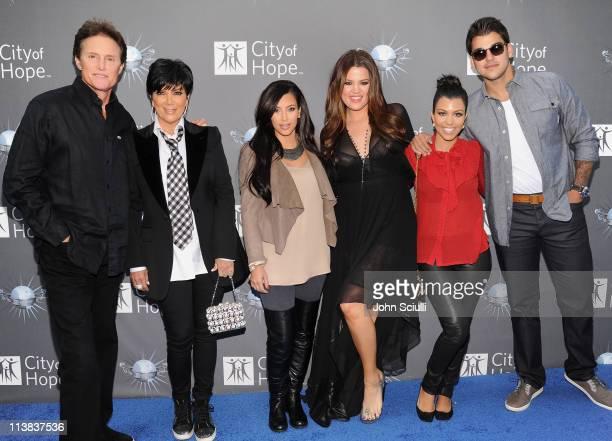 Bruce Jenner Kris Kardashian Kim Kardashian Khloe Kardashian Kourtney Kardashian and Robert Kardashian arrive for the City of Hope honoring Shelli...