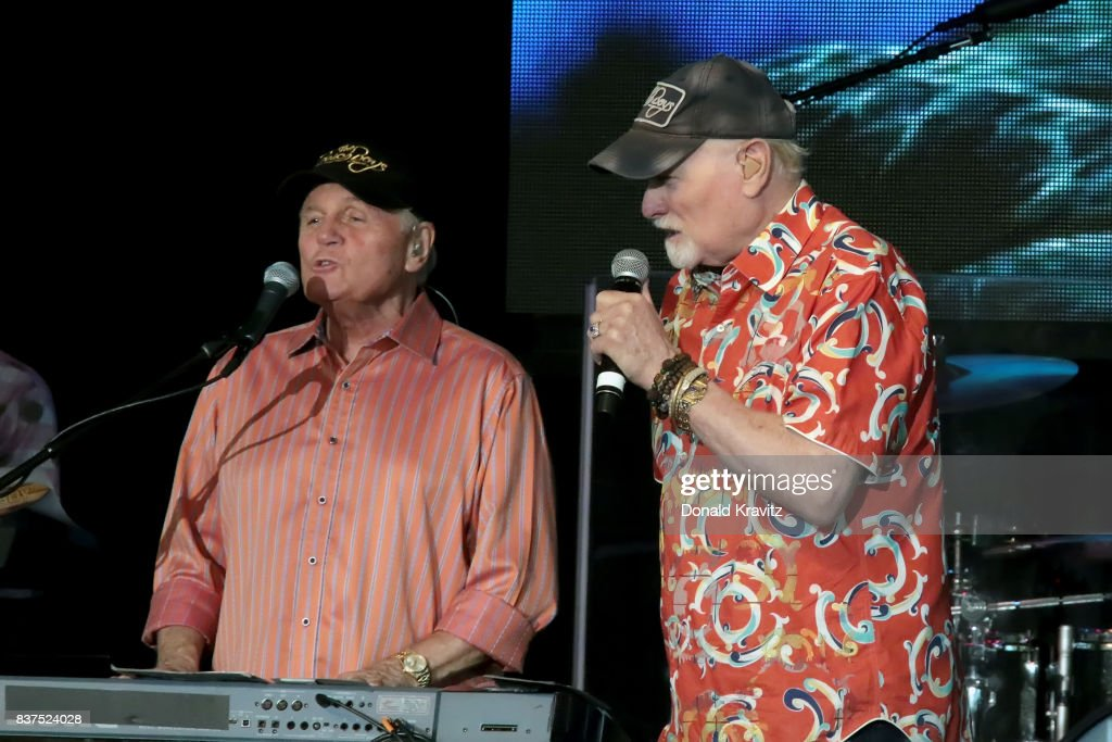 Bruce Johnston and Mike Love of the Beach Boys perform at The Music Pier on August 22, 2017 in Ocean City, New Jersey.