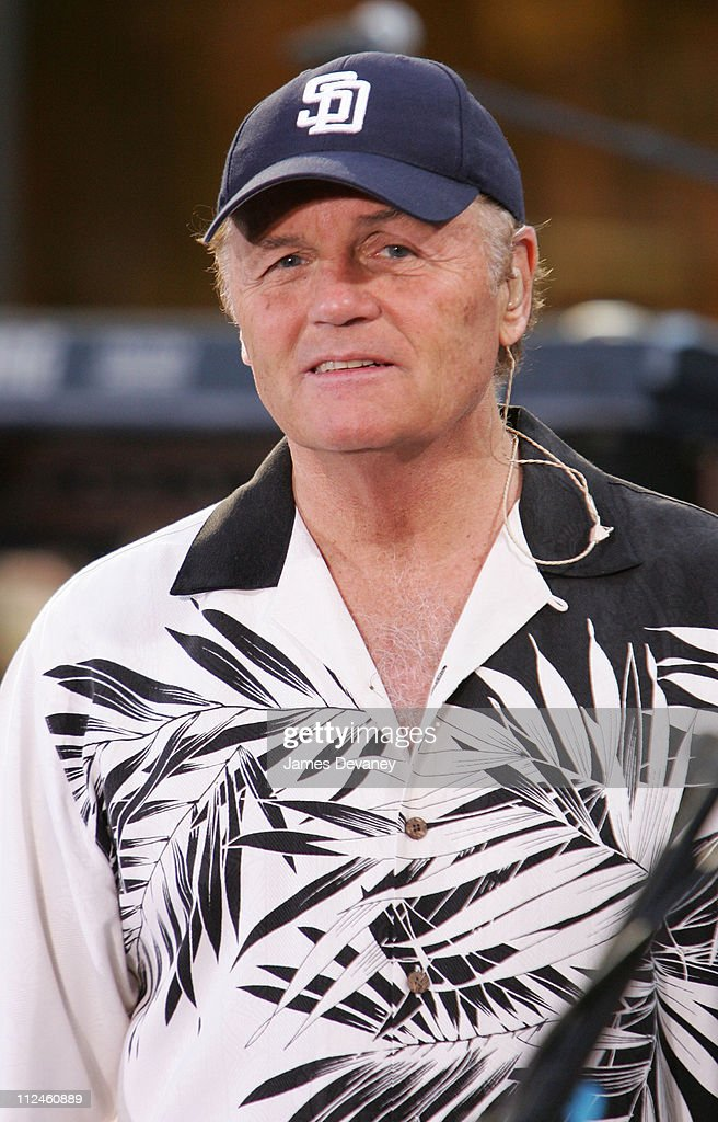 Bruce Johnston of the Beach Boys during Beach Boys Perform on the 2005 NBC's 'The Today Show' Summer Concert Series at NBC Studios Rockefeller Plaza in New York City, New York, United States.