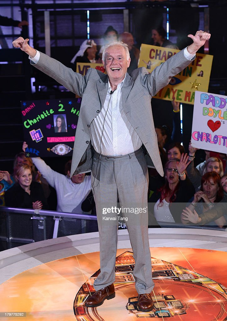 Bruce Jones gets evicted from the Celebrity Big Brother house at Elstree Studios on September 6, 2013 in Borehamwood, England.