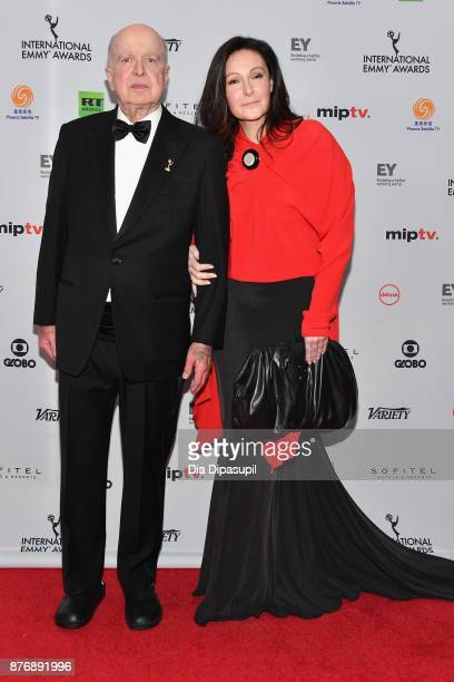 Bruce L Paisner and Camille Bidermann Roizen attend the 45th International Emmy Awards at New York Hilton on November 20 2017 in New York City