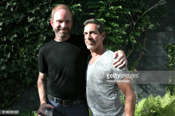 Bruce Macaffer and Jack Schettino attend Gustavo Bonevardi Opening at Gallery B on May 30 2010 in Sag Harbor New York