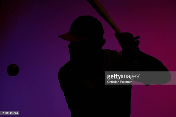 Bruce Maxwell of the Oakland Athletics poses for a portrait during the spring training photo day at HoHoKam Stadium on February 29 2016 in Mesa...