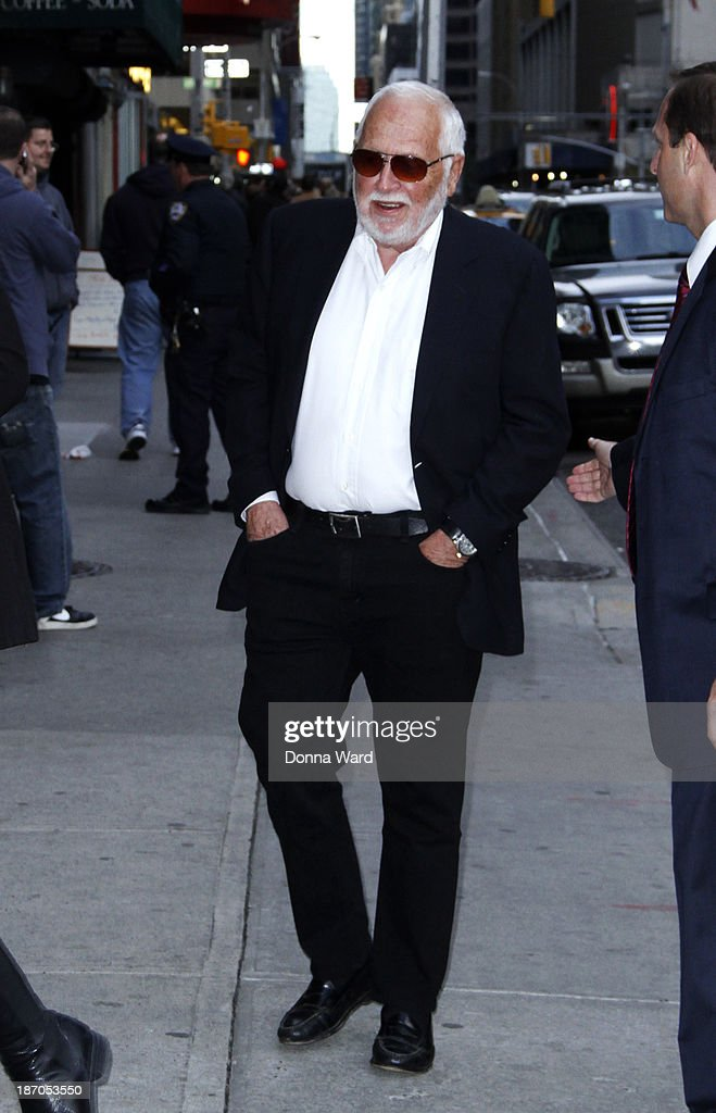 Bruce McCall arrives for the 'Late Show with David Letterman' at Ed Sullivan Theater on November 3, 2013 in New York City.