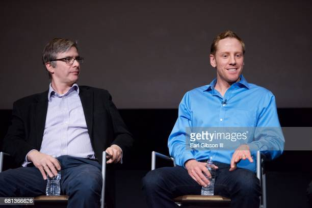 Bruce McKenna and David Broyles speak onstage at the FYC Event for HISTORY's 'SIX' at Wolf Theatre on May 9 2017 in North Hollywood California