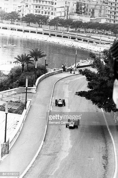 Bruce McLaren Graham Hill CooperClimax T60 BRM P57 Grand Prix of Monaco Monaco 03 June 1962