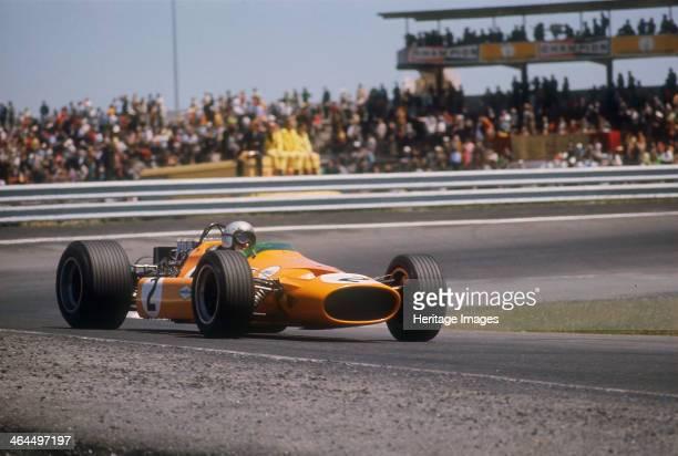 Bruce McLaren's McLarenFord Spanish Grand Prix Jarama Madrid 1968 McLaren retired with mechanical trouble after 77 laps of the race New Zealander...