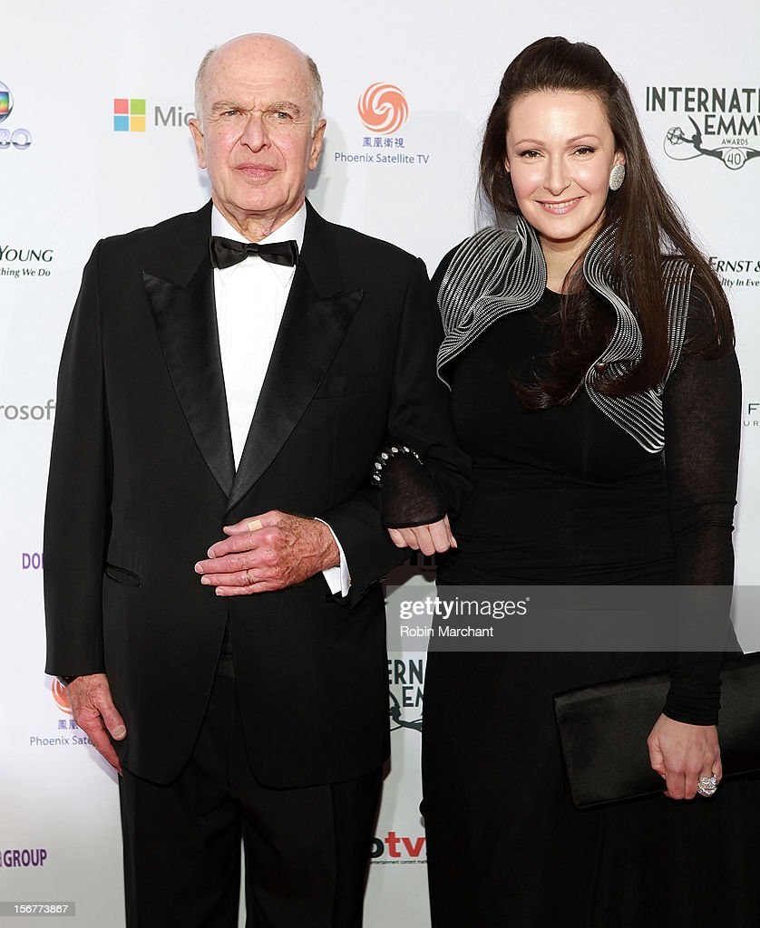 Bruce Paisner (L) and Camille Bidermann-Roizen attend the 40th International Emmy Awards on November 19, 2012 in New York City.