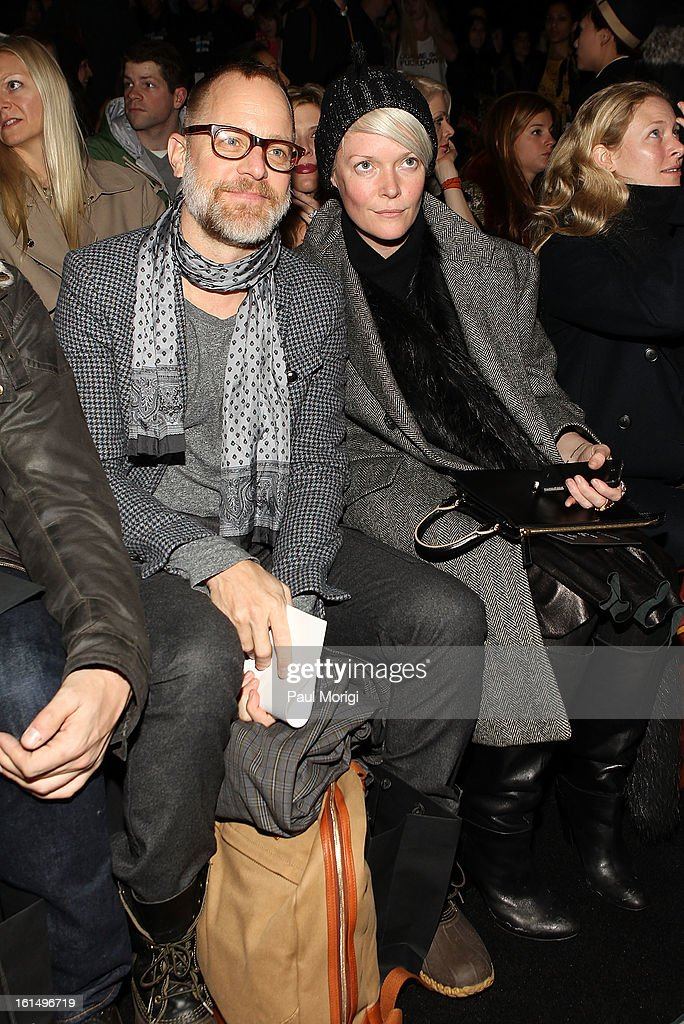 Bruce Pask and Style director <a gi-track='captionPersonalityLinkClicked' href=/galleries/search?phrase=Kate+Lanphear&family=editorial&specificpeople=3065374 ng-click='$event.stopPropagation()'>Kate Lanphear</a> attend Marc By Marc Jacobs during Fall 2013 Mercedes-Benz Fashion Week at The Theater at Lincoln Center on February 11, 2013 in New York City.