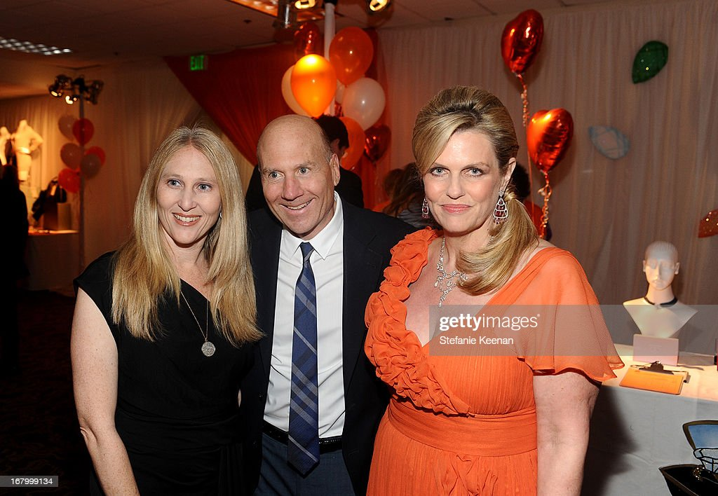 Bruce Perlmutter (C) and wife with host <a gi-track='captionPersonalityLinkClicked' href=/galleries/search?phrase=Nancy+Davis+-+Philanthropist&family=editorial&specificpeople=216112 ng-click='$event.stopPropagation()'>Nancy Davis</a> attend the 20th Annual Race To Erase MS Gala 'Love To Erase MS' at the Hyatt Regency Century Plaza on May 3, 2013 in Century City, California.