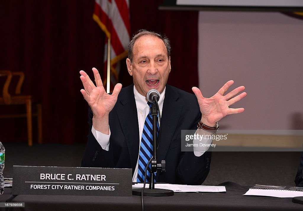 <a gi-track='captionPersonalityLinkClicked' href=/galleries/search?phrase=Bruce+Ratner&family=editorial&specificpeople=2154379 ng-click='$event.stopPropagation()'>Bruce Ratner</a> attends Nassau Veterans Memorial Coliseum Presentation at Nassau County Police Department Headquarters on May 2, 2013 in Mineola, New York.