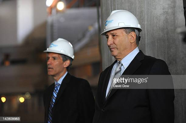 Bruce Ratner Barclays Center Developer and Majority Owner at the Barclays Center on April 10 2012 in Brooklyn New York NOTE TO USER User expressly...