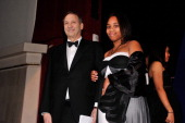 Bruce Ratner is escorted onstage by Mykel Matthews at the The Jackie Robinson Foundation Annual Awards' Dinner at the Waldorf Astoria Hotel on March...