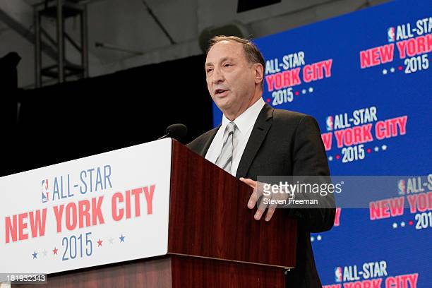 Bruce Ratner majority owner and developer of Barclays Center speaks at a press conference announcing that New York City will be the host of the 2015...