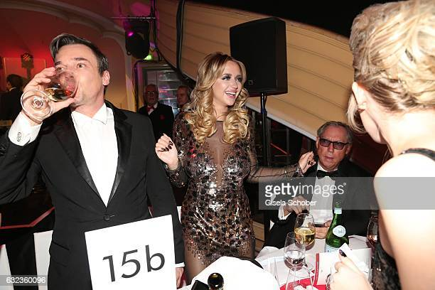 Bruce Reith and Cathy Lugner former wife of Richard Lugner during the 44th German Film Ball 2017 party at Hotel Bayerischer Hof on January 21 2017 in...