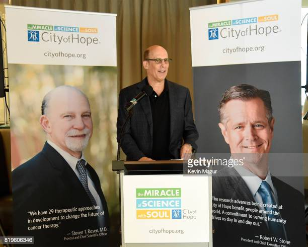 Bruce Resnikoff CEO of Universal Music Enterprises speaks during City of Hope's The New York Spirit Of Life Campaign kick off event honoring Coran...