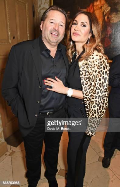 Bruce Ritchie and Shadi Ritchie attend Lisa Tchenguiz's party hosted by Fatima Maleki in Mayfair on March 24 2017 in London England