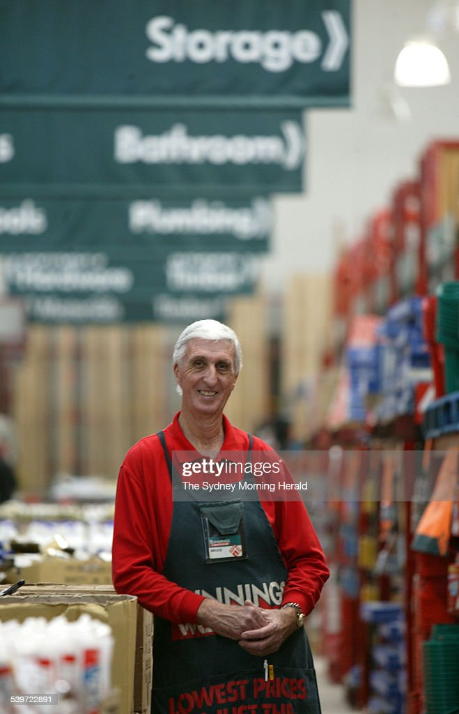 Bruce Rochester inside Bunnings Norwest at Baulkham Hills He is now retired and working casually at Bunnings and loving it 5 July 2005 SMH Picture by...