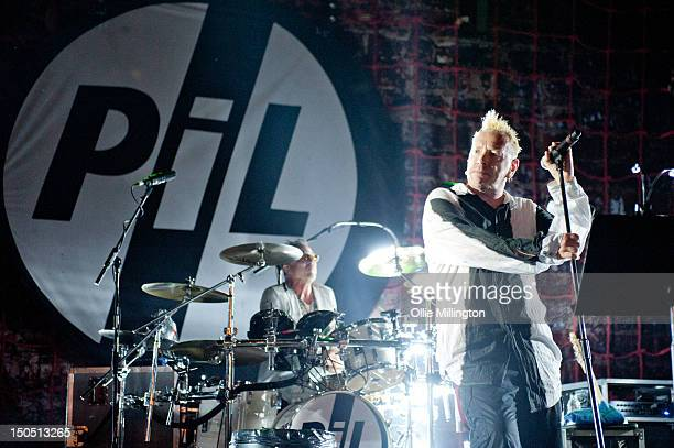 Bruce Smith and John Lydon of PiL perform on stage during Summer Sundae festival at De Montfort Hall And Gardens on August 19 2012 in Leicester...