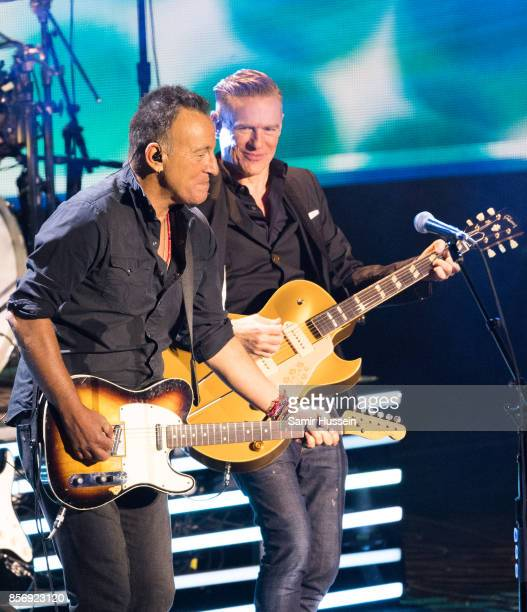 Bruce Springsteen and Bryan Adams perform together at the Closing Ceremony on day 8 of the Invictus Games Toronto 2017 on September 30 2017 in...