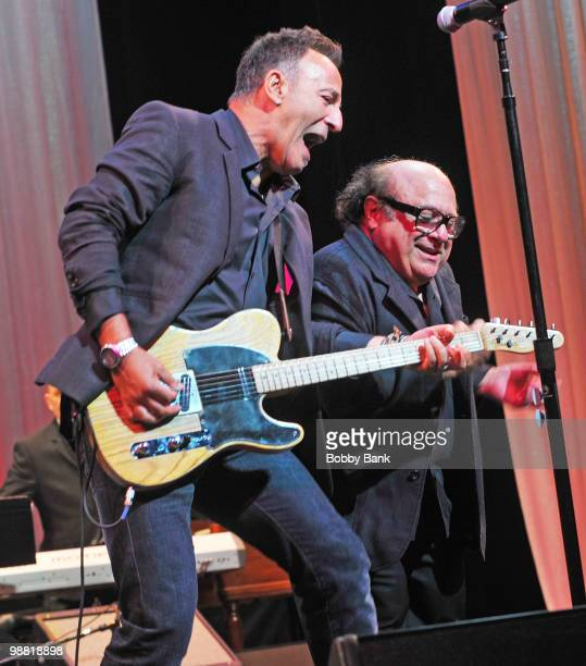 Bruce Springsteen and Danny DeVito perform together at the 3rd Annual New Jersey Hall of Fame Induction Ceremony at the New Jersey Performing Arts...