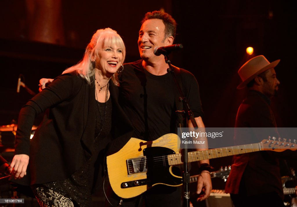 <a gi-track='captionPersonalityLinkClicked' href=/galleries/search?phrase=Bruce+Springsteen&family=editorial&specificpeople=123832 ng-click='$event.stopPropagation()'>Bruce Springsteen</a> and Emmylou Harris perform onstage at MusiCares Person Of The Year Honoring <a gi-track='captionPersonalityLinkClicked' href=/galleries/search?phrase=Bruce+Springsteen&family=editorial&specificpeople=123832 ng-click='$event.stopPropagation()'>Bruce Springsteen</a> at Los Angeles Convention Center on February 8, 2013 in Los Angeles, California.