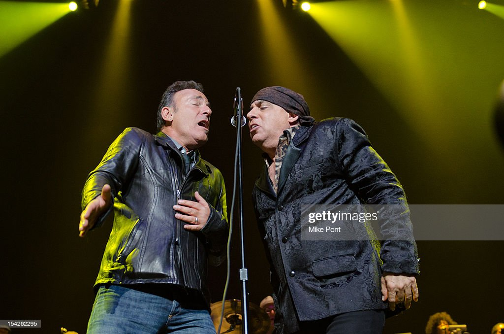 Bruce Springsteen and Little Steven Van Zandt Perform at The Little Kids Rock's 10th Anniversary Celebration at Manhattan Center Grand Ballroom on October 16, 2012 in New York City.
