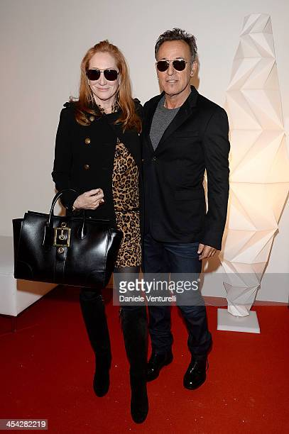Bruce Springsteen and Patti Scialfa attend day 4 of the Gucci Paris Masters 2013 at Paris Nord Villepinte on December 8 2013 in Paris France