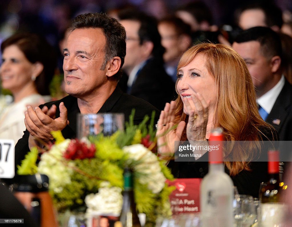Bruce Springsteen and Patti Scialfa attend MusiCares Person Of The Year Honoring Bruce Springsteen at Los Angeles Convention Center on February 8, 2013 in Los Angeles, California.