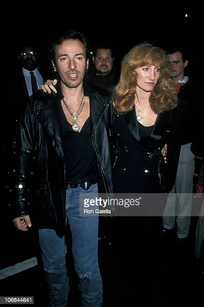 Bruce Springsteen and Patti Scialfa during Bruce Springsteen and Patti Scialfa Sighting at Sam's Restaurant in New York City May 9 1992 at Sam's...