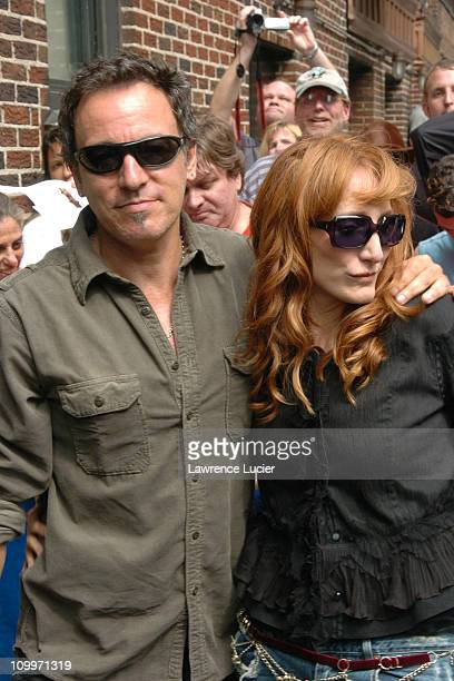 Bruce Springsteen and Patti Scialfa during Bruce Springsteen and Patti Scialfa Arrive at Late Show with David Letterman at Ed Sullivan Theater in New...