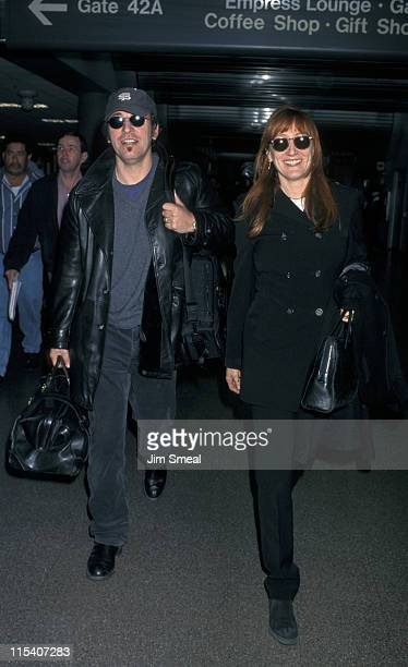 Bruce Springsteen and Patti Scialfa during Bruce Springsteen and Patti Scialfa Arrive at LAX from Newark February 8 1998 at Los Angeles International...