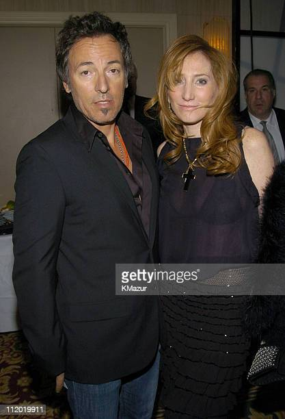 Bruce Springsteen and Patti Scialfa during The 19th Annual Rock and Roll Hall of Fame Induction Ceremony Backstage and Audience at Waldorf Astoria in...