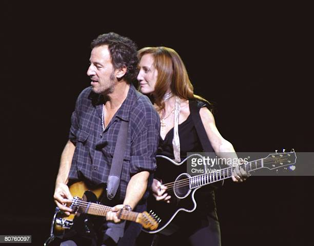 Bruce Springsteen and Patti Scialfa of the E Street Band