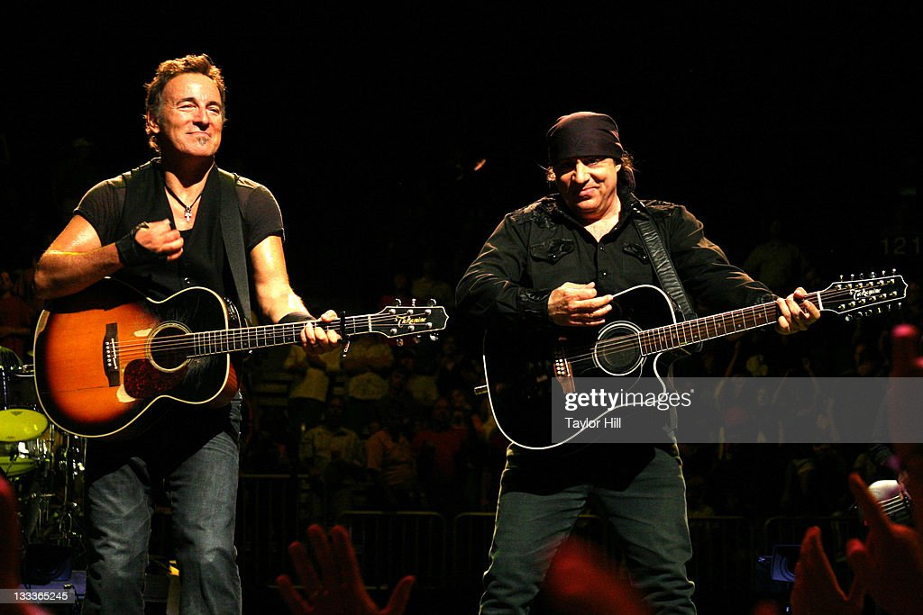 Bruce Springsteen (L) and Steven Van Zandt of the E Street Band perform at the Philips Arena on April 26, 2009 in Atlanta, Georgia.