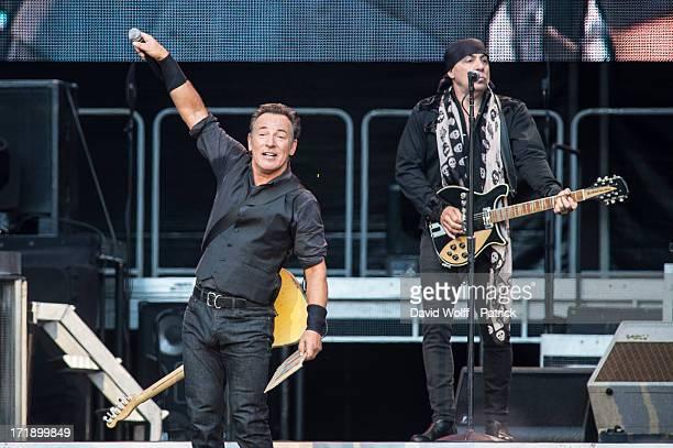 Bruce Springsteen and Steven Van Zandt perform at Stade de France on June 29 2013 in Paris France
