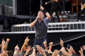 Bruce Springsteen and the E Street Band perform a concert at Fenway Park Aug 14 2012