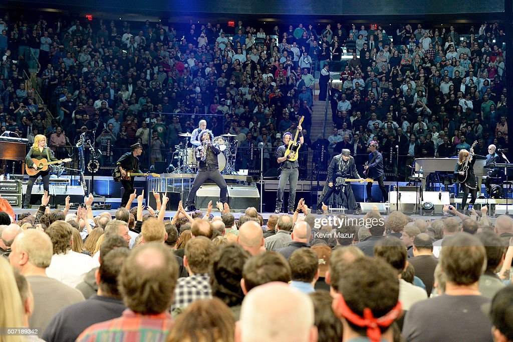 Bruce Springsteen And The E Street Band perform at Madison Square Garden on January 27, 2016 in New York City.