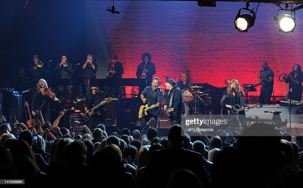 <a gi-track='captionPersonalityLinkClicked' href=/galleries/search?phrase=Bruce+Springsteen&family=editorial&specificpeople=123832 ng-click='$event.stopPropagation()'>Bruce Springsteen</a> and the <a gi-track='captionPersonalityLinkClicked' href=/galleries/search?phrase=E+Street+Band&family=editorial&specificpeople=2767945 ng-click='$event.stopPropagation()'>E Street Band</a> perform during SiriusXM's concert celebrating 10 years of satellite radio at The Apollo Theater on March 9, 2012 in New York City.