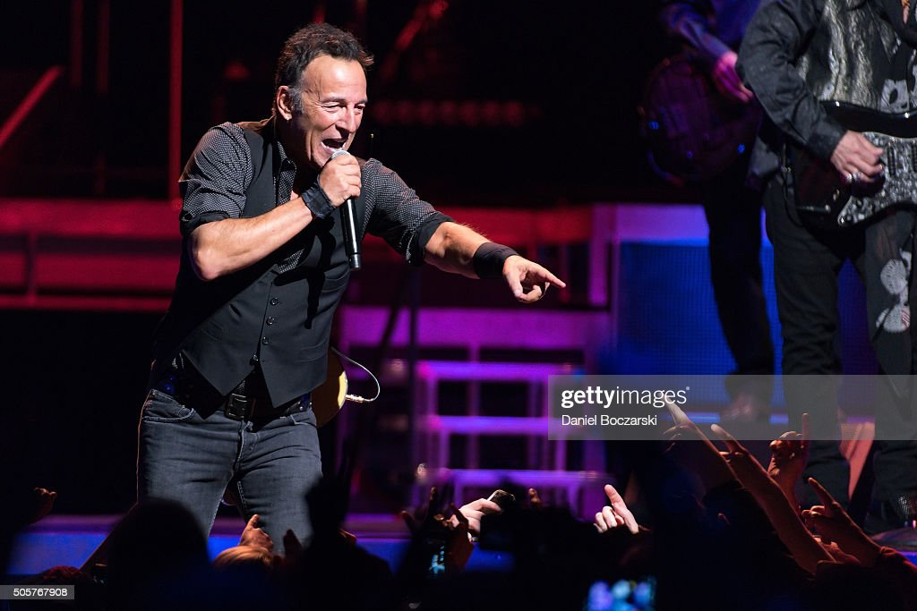 Bruce Springsteen And The E Street Band perform during The River Tour 2016 at United Center on January 19, 2016 in Chicago, Illinois.