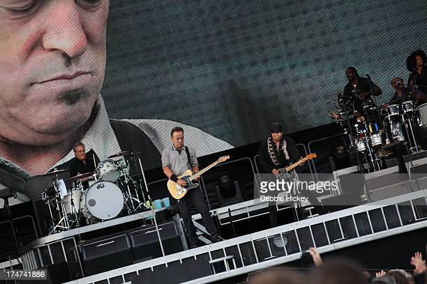 Bruce Springsteen and The E Street Band performs at Nowlan Park on July 28 2013 in Kilkenny Ireland