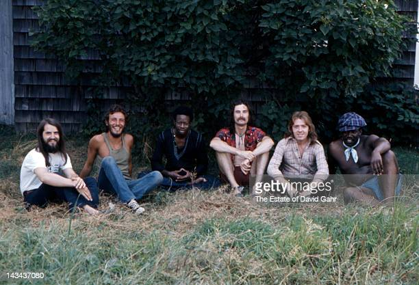 Bruce Springsteen and the E Street Band pose for a portrait on August 29 1973 along the Jersey Shore New Jersey