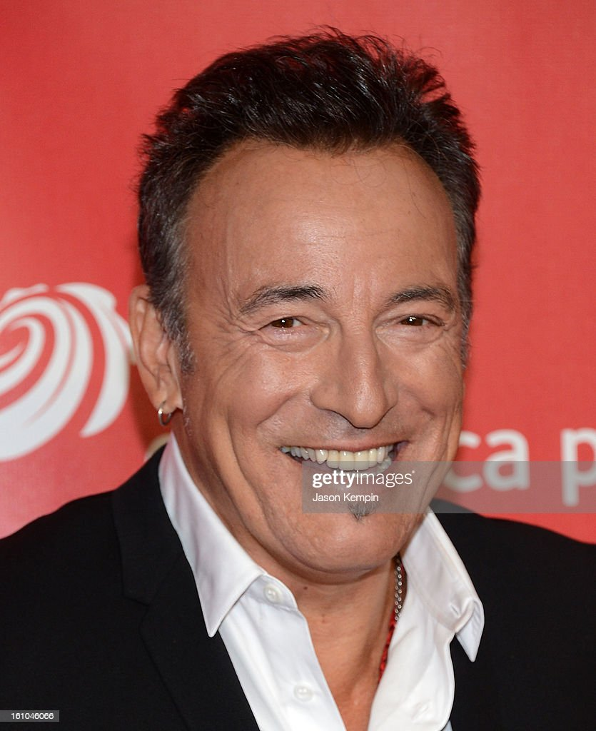 <a gi-track='captionPersonalityLinkClicked' href=/galleries/search?phrase=Bruce+Springsteen&family=editorial&specificpeople=123832 ng-click='$event.stopPropagation()'>Bruce Springsteen</a> attends the 2013 MusiCares Person Of The Year Gala Honoring <a gi-track='captionPersonalityLinkClicked' href=/galleries/search?phrase=Bruce+Springsteen&family=editorial&specificpeople=123832 ng-click='$event.stopPropagation()'>Bruce Springsteen</a> at Los Angeles Convention Center on February 8, 2013 in Los Angeles, California.
