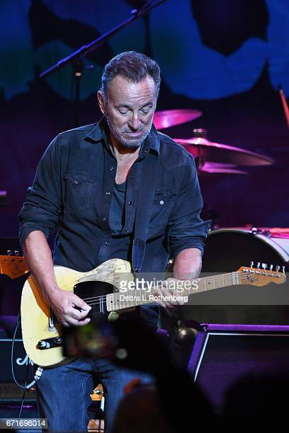 Bruce Springsteen during Little Steven and The Disciples of Soul Concert at the Asbury Park Music and Film Festival at the Paramount Theater on April...
